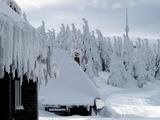 Tour de ski - ranní pohled od Švýcárny.